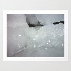 Ice cave Art Print