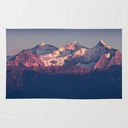 Three Peaks in Violet Sunset Rug