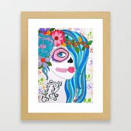 Flower Power Girl Framed Art Print