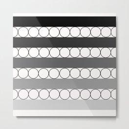 Line&dot Metal Print