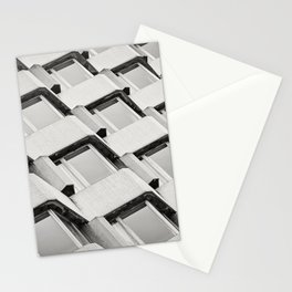 Modernistic Architectural Pattern Stationery Cards