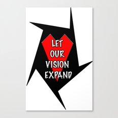 Let our vision expand Canvas Print