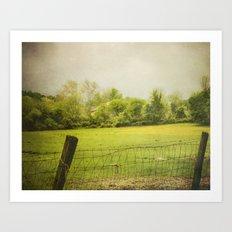 green green grass  Art Print