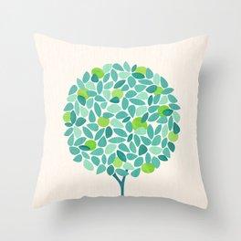 Mid Century Lime Tree Throw Pillow