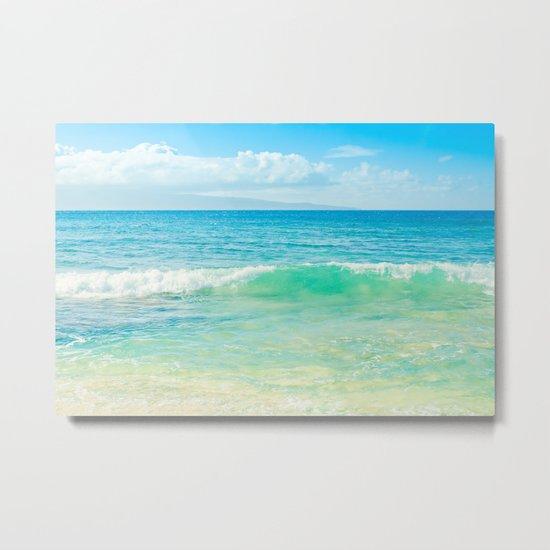 Ocean Blue Beach Dreams Metal Print