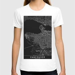 Vancouver Black Map T-shirt