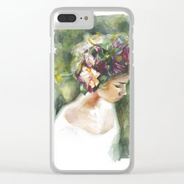 In The Garden Clear iPhone Case
