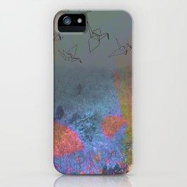 Neon Japanese Winter iPhone Case