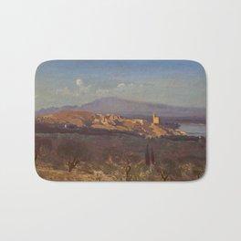 """Jean-Baptiste-Camille Corot """"Villeneuve-les-Avignon"""" Bath Mat"""