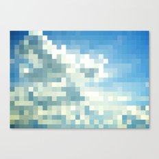 Pixel Clouds Canvas Print
