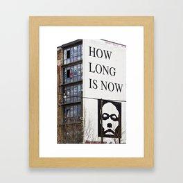 HOW LONG IS NOW - BERLIN Framed Art Print