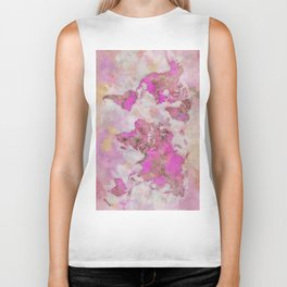 World Map Violet Biker Tank