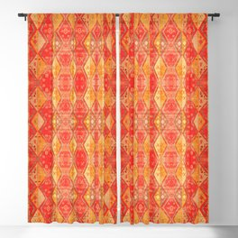 N254 - Oriental Heritage Antique Traditional Tropical Color Moroccan Style Blackout Curtain