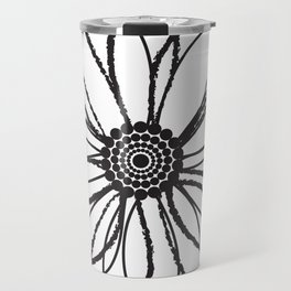 Anemone - Monotone Perennial Travel Mug