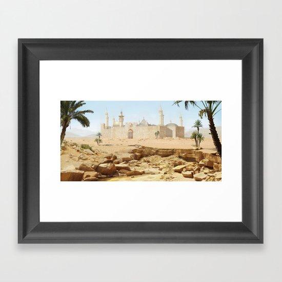 Desert City Framed Art Print