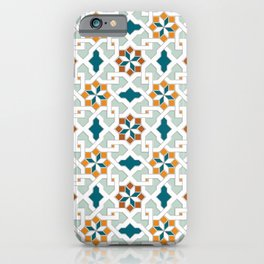Geometric Pattern, oriental style (nature color set)  traditional morocco tile pattern iPhone Case