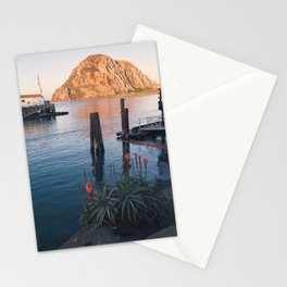 First Light on Morro Rock Stationery Cards