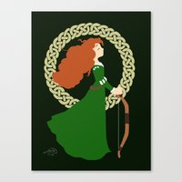merida Canvas Prints featuring Merida  by Cantabile