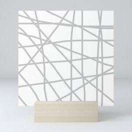 Doodle (Gray & White) Mini Art Print