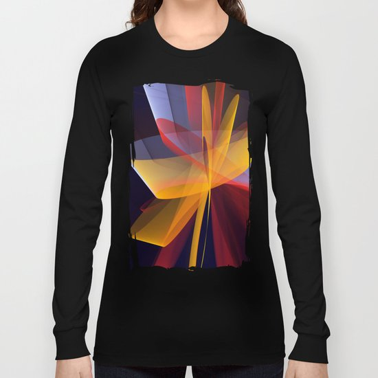 Transparent foldings, modern colourful abstract Long Sleeve T-shirt