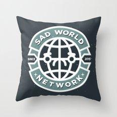 SAD WORLD NEWS NETWORK Throw Pillow
