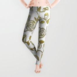 Golden Roses Leggings