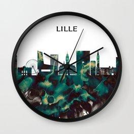 Lille Skyline Wall Clock