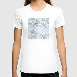Aqua, Azure, and Heather-Gray Marble T-shirt