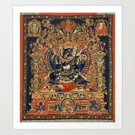 Tantric Buddhist Vajrabhairava Deity 2 Art Print