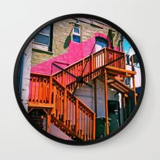 Alleyway architecture Wall Clock
