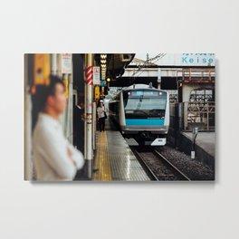 Train's Coming Metal Print