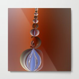 Abstract Fruit Pearls Metal Print