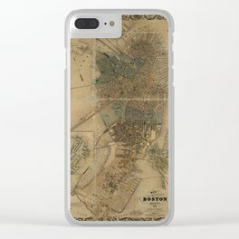Map of Boston 1852 Clear iPhone Case