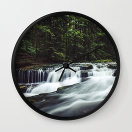 Szklarka creek - Landscape and Nature Photography Wall Clock