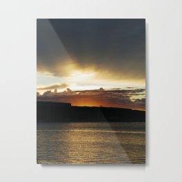 Sunset in Pula (Croatia) Metal Print