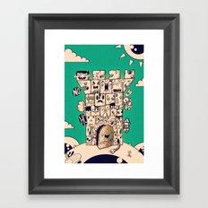 man castle Framed Art Print