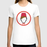 fez T-shirts featuring Man With Fez by Evan Ayres
