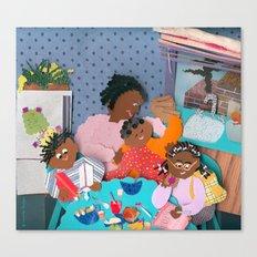Family Breakfast Canvas Print