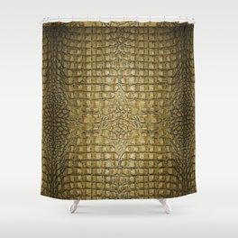 Alligator ,,, Gold Shower Curtain