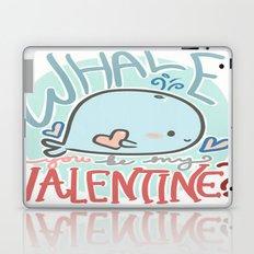 Whale You Be My Valentine Laptop & iPad Skin
