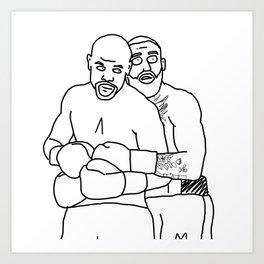 The Big Hug* Art Print