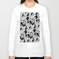 frames Long Sleeve T-shirts featuring Changing Frames by ValentinaFloraAngelucci