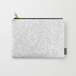 Small Spots - White and Pale Gray Carry-All Pouch