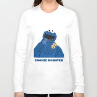cookie monster Long Sleeve T-shirts featuring Cookie Monster by Dano77