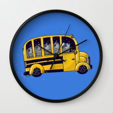 Off to School Wall Clock