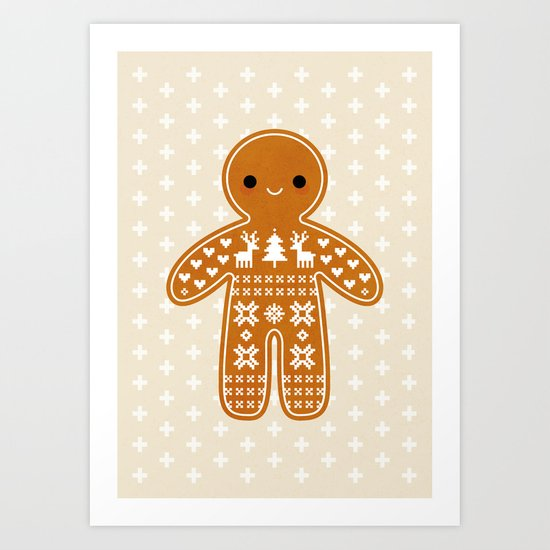 SWEATER PATTERN GINGERBREAD COOKIE by daisybeatrice