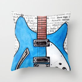 Music for the Soul & Spirit - Blue Series Throw Pillow