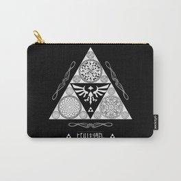 Legend of Zelda Kingdom of Hyrule Crest Letterpress Vector Art Carry-All Pouch