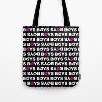boys Tote Bags featuring Boys by aisha richardson