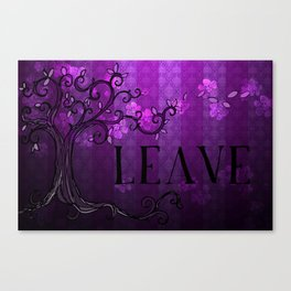 LEAVE - Spring Plum Canvas Print